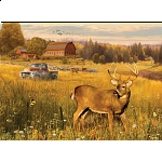 Deer Field - Large Piece