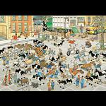 Jan van Haasteren Comic Puzzle - The Cattle Market