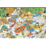 Jan van Haasteren Comic Puzzle - Wild Water Rafting