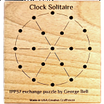 Clock Solitaire Peg Jumping Puzzle Game