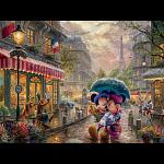 Thomas Kinkade: Disney - Mickey & Minnie in Paris - Large Piece