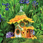 Fairy Houses: Sunflower Cottage - Large Piece