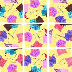 Scramble Squares - Cupcakes