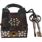 15 Step Extreme - 2 Key Puzzle Lock - With Silver Design