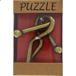 'F' - Antique Style Metal Puzzle