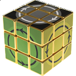 Latch Cube - Metallized Gold Body