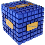 Extreme Tessarisis Puzzle - Blue and Gold (with Tarka)