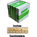 Impossible Cube 1 (Green and White)
