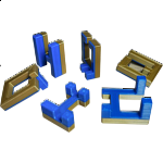 Impossible Cube 2 (Blue and Gold)