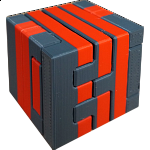 Impossible Cube 3 (Red and Gray)
