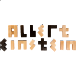 Albert Einstein's Letter Block Puzzle
