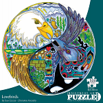 Lovebirds - Large Piece Round Shaped