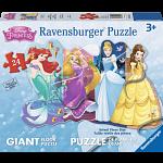 Pretty Princesses - Giant Shaped Floor Puzzle