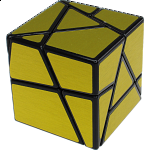 Ghost Skewb - Black Body with Gold Labels