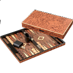 Deluxe Iraklia Backgammon - Large (Rosewood Design)