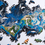 Earth Wooden Jigsaw Puzzle
