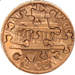 13 Piece Penny - Coin Jigsaw Puzzle