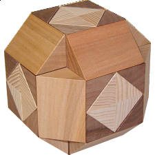 Cross in Ball - European Wood Puzzles