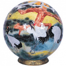 Pines and Cranes: 3 inch - Sphere