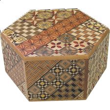 Hexagon 6-Step Yosegi - Other Japanese Puzzle Boxes