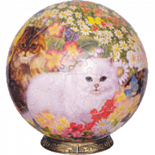 Cats in Flowers: 9 inch - Sphere