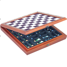 15 inch Cherry Wood Storage Board - Chess