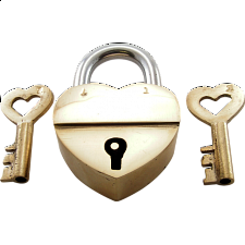 Trick Lock - Broken Heart - Puzzle Locks