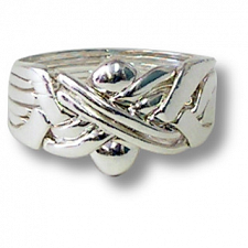 6 Band - Sterling Silver Puzzle Ring -