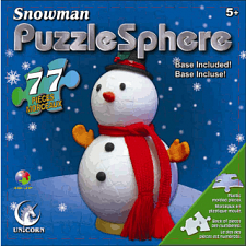 Snowman Puzzle Sphere - 1-100 Pieces