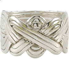 12 Band - Sterling Silver Puzzle Ring - Puzzle Rings