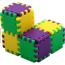 Cubigami 7 - Plastic Interlocking Puzzles