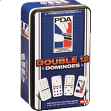 PDA Double 12 Dominoes Tin - Dominoes
