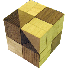 Wedge Cube Too - European Wood Puzzles