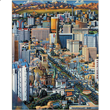 Collector Suitcase Jigsaw - Las Vegas