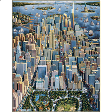 Collector Suitcase Jigsaw - New York City