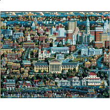 Collector Suitcase Jigsaw - Philadelphia