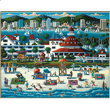Collector Suitcase Jigsaw - San Diego