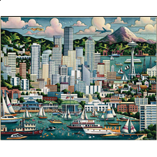 Collector Suitcase Jigsaw - Seattle
