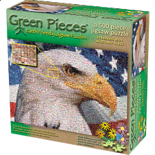 Green Pieces - Ameri-Cans - jigsaw puzzle - Photomosaics