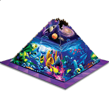3D Pyramid Puzzle - Worlds of Wonder - 101-499 Pieces