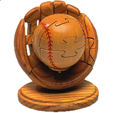 Baseball and Mitt - 3D Wooden Jigsaw Puzzle