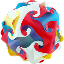 Cyclone Puzzle - Multi Color - Plastic Interlocking Puzzles