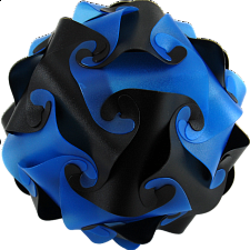 Cyclone Puzzle - Blue and Black - More Puzzles