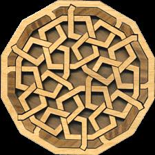 Paradigm Puzzles - Interlace Diamond - Wood Puzzles