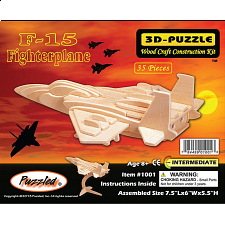 F-15 Fighterplane - 3D Wooden Puzzle - 1-100 Pieces