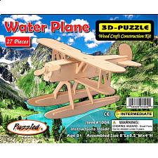 Water Plane - 3D Wooden Puzzle - 1-100 Pieces