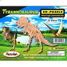 Tyrannosaurus - 3D Wooden Puzzle - 3D - Wooden