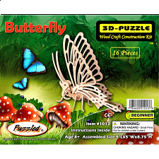Little Butterfly - 3D Wooden Puzzle - 1-100 Pieces