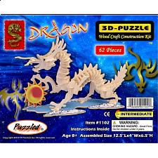 Dragon - Small - 3D Wooden Puzzle - Jigsaws