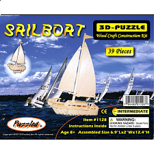 Sailboat - 3D Wooden Puzzle - 3D - Wooden